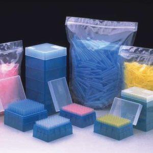 Nichiryo Bulk Tips, 20μl, 100μl, 200μl, Universal, Yellow, Non-Graduated, 1000/bag